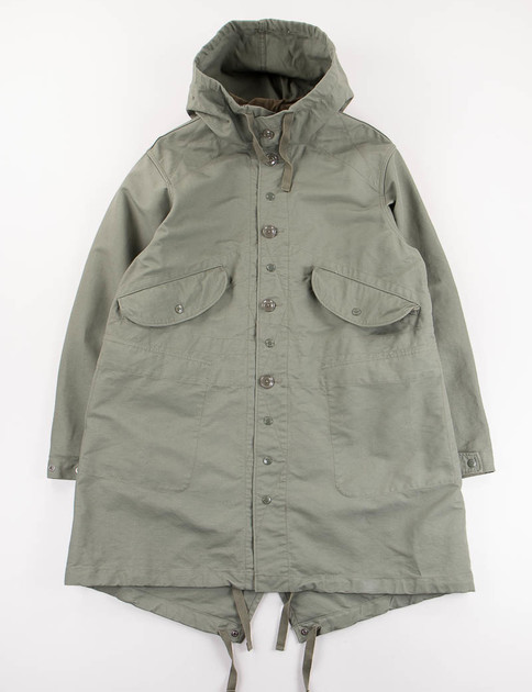 Olive Cotton Double Cloth Highland Parka