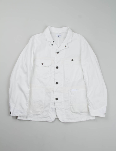 White 20's Cotton Twill Engineer Jacket