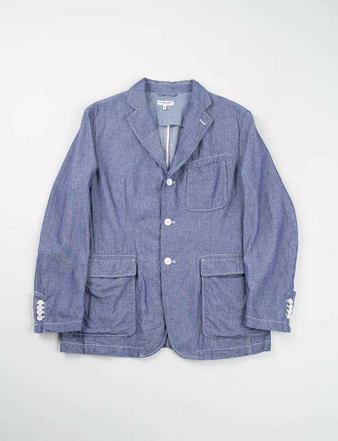 Indigo Cotton Dungaree Cloth Baker Jacket