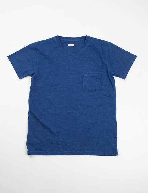 Indigo Jersey Crew Pocket T–Shirt