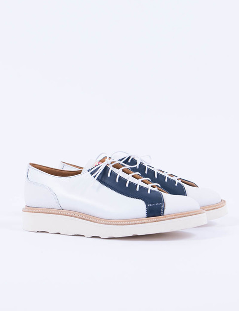 White Calf Multi Tone Monkey Shoe