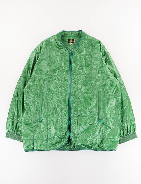 Green Piping Quilt Jacket