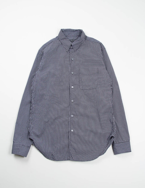 Black Graph Check Tab Collar Shirt