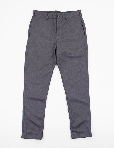 Grey Worsted Wool Cinch Pant