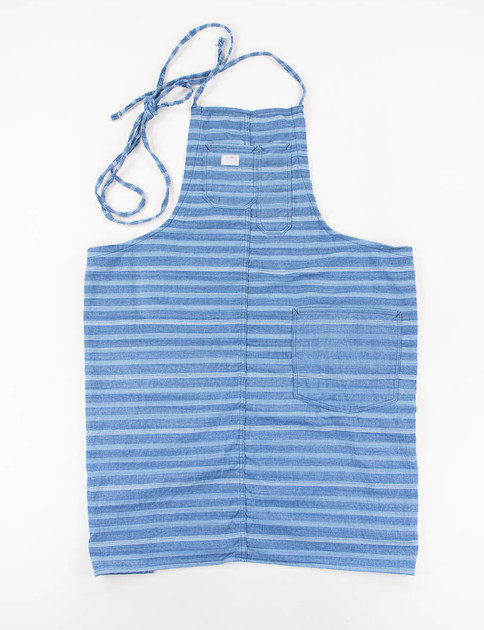 Light/Dark Indigo Stripe Empower Apron