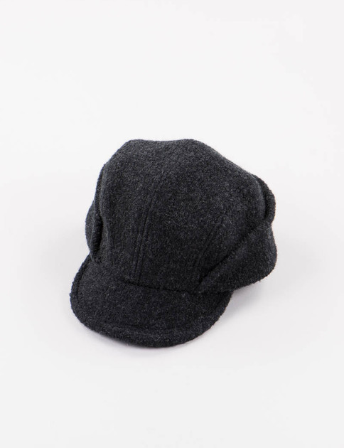 Charcoal Boiled Wool Cahors Hat