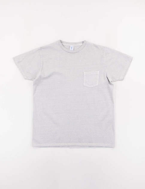 Grey Pigment Dye Pocket Tee