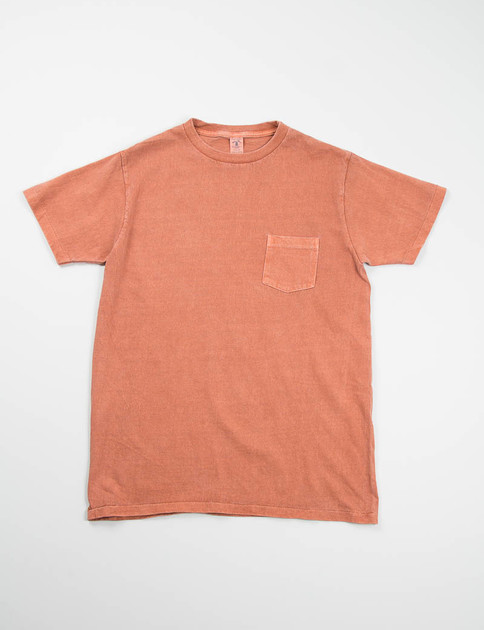 Brick Pigment Dye Pocket Tee