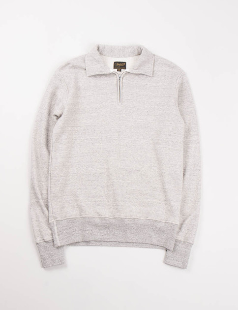 Mid Grey Quarter Zip Campus Sweat