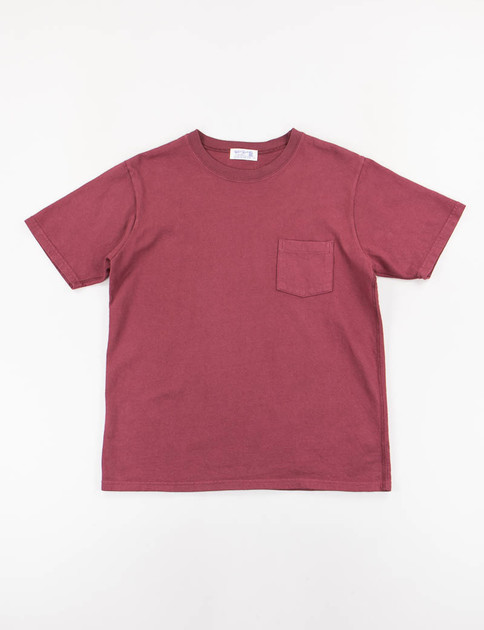 Burgundy Heavy Oz Pocket Tee