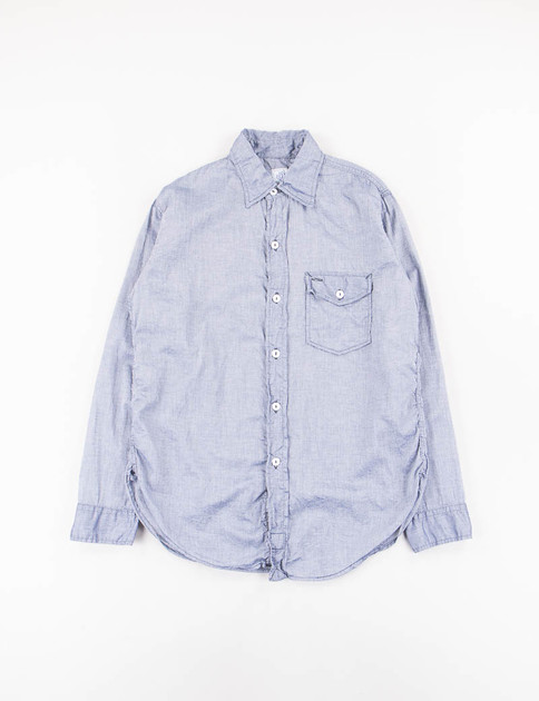 Navy Feather Chambray C–Post 9 Shirt