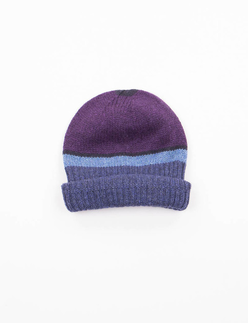 Purple/Navy Stripe Hat