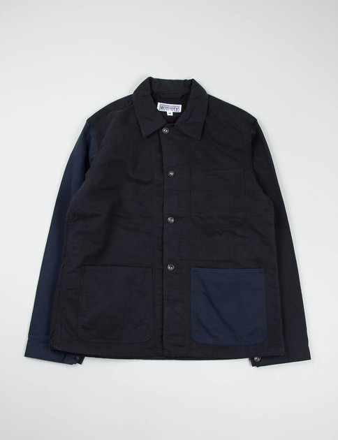 Black/Navy Combo Bedford Cord Utility Jacket