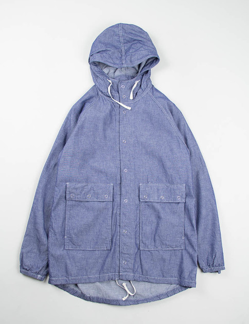 Indigo Cotton Dunagree Cloth Light Parka