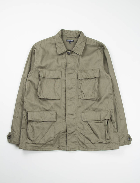 Olive Cotton Herringbone BDU Shirt