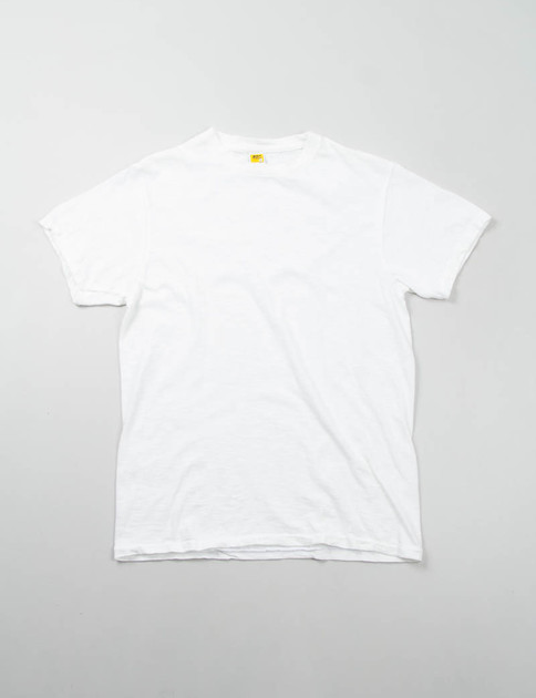 White Rolled Regular Tee