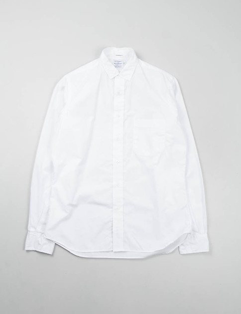 White End on End Point Collar Shirt