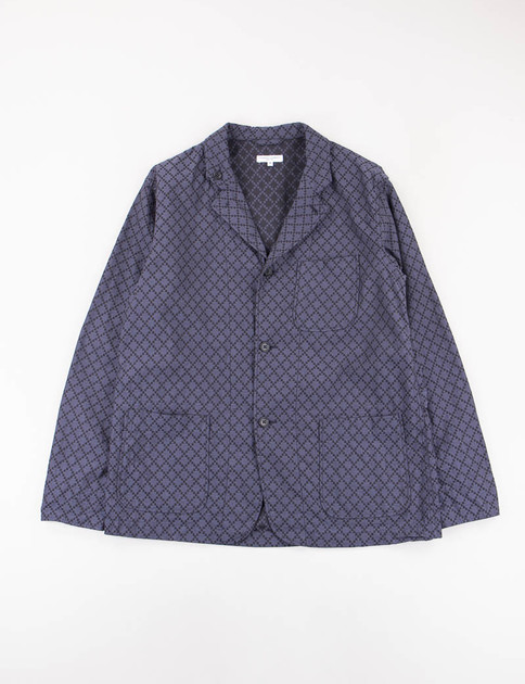Navy Diamond Jacquard Loiter Jacket