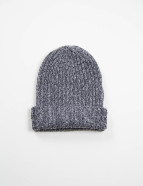 Grey Sweater Cashmere Beany Cap