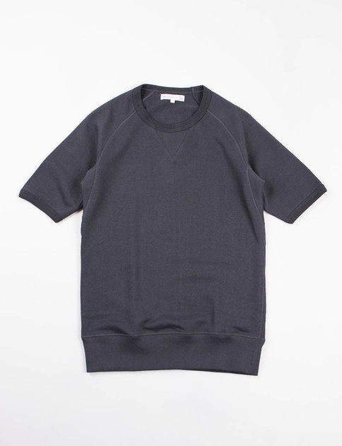 Charcoal 347 Organic Cotton 1/4 Sleeve Sweater