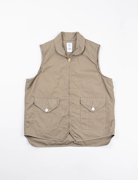 Olive Cotton Broadcloth Navy Cruz Vest