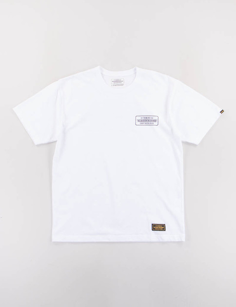 White Bar & Shield Tee