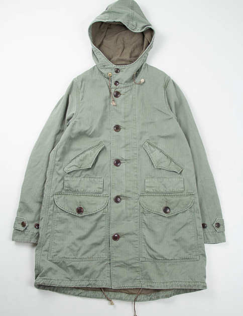 Green Townsend Prime Herringbone Coat