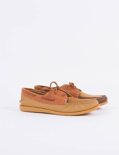 New England Outerwear Brown Combo Moc Camp Shoe