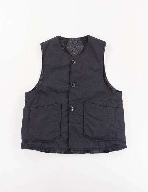 Black Nyco Ripstop/Argyle Reversible Over Vest