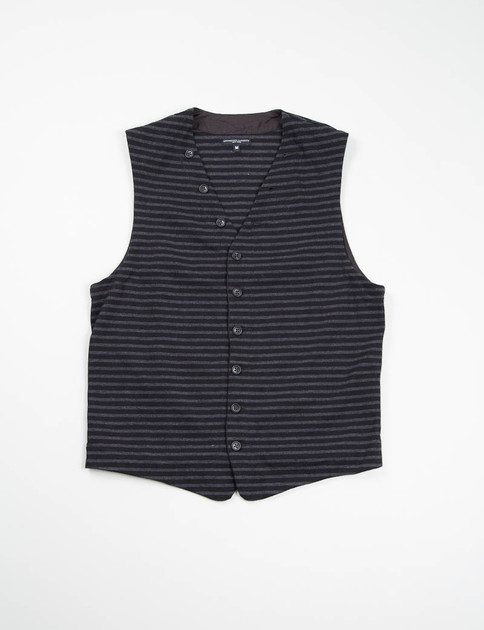 Black/Grey Stripe Jersey Knit Vest
