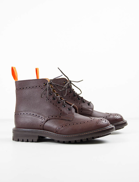 Brown Zug Grain Stow Brogue Boot
