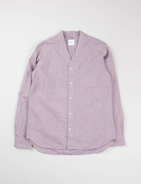 Purple Chambray Cardigan Shirt