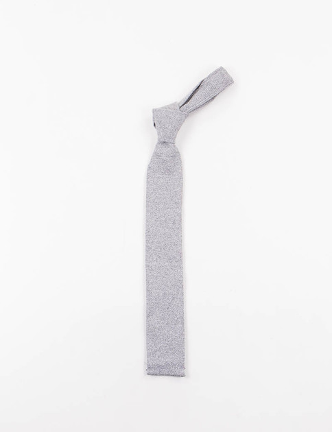 Heather Grey Solid Knit Tie