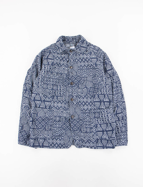 Indigo Printed Chambray Sweetbear Jacket