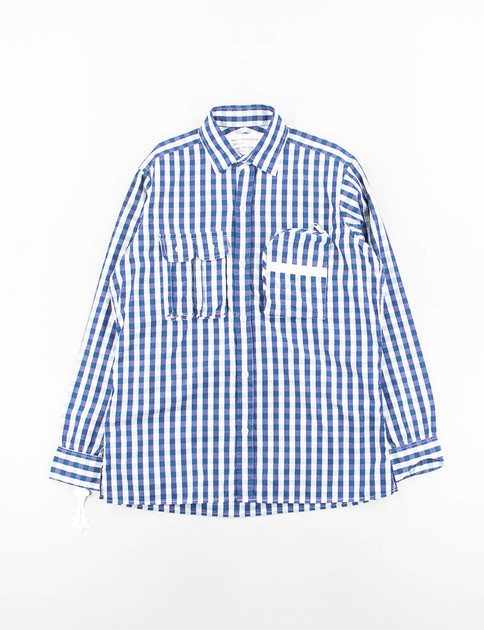 Navy Gingham Check G.P.2+1 Shirt