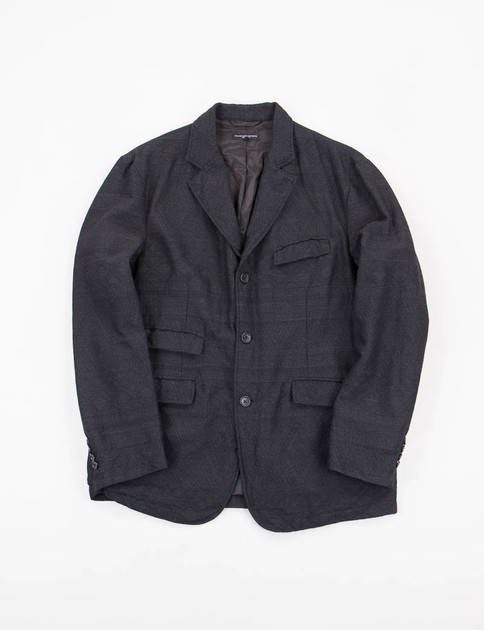 Charcoal Wool Geo Jacquard Andover Jacket