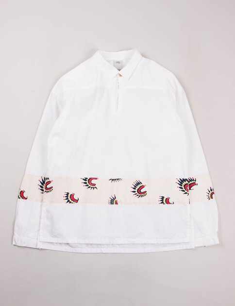 White Chambray Kerchief Border Tunic