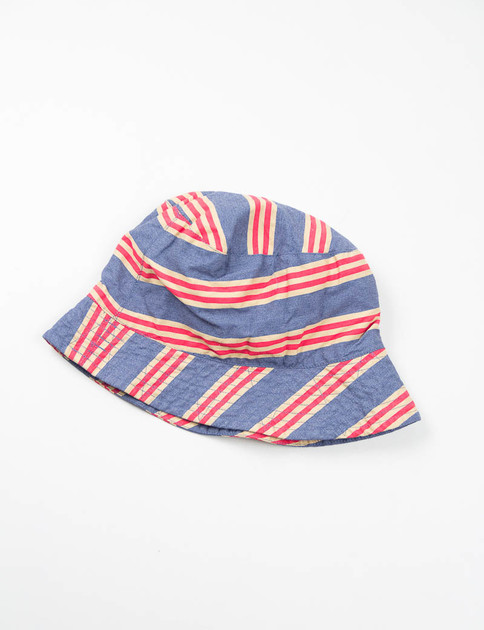 Navy/Khaki/Red Tri Color Stripe Activecloth Bucket Hat