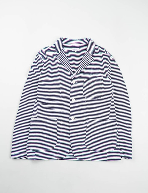Navy/White Stripe French Terry Knit Jacket