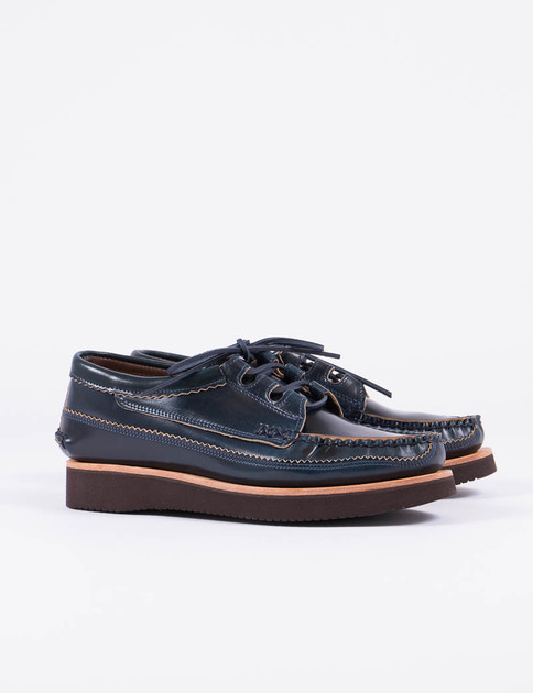Navy Cordovan Ghillie Moc DB Shoe Special