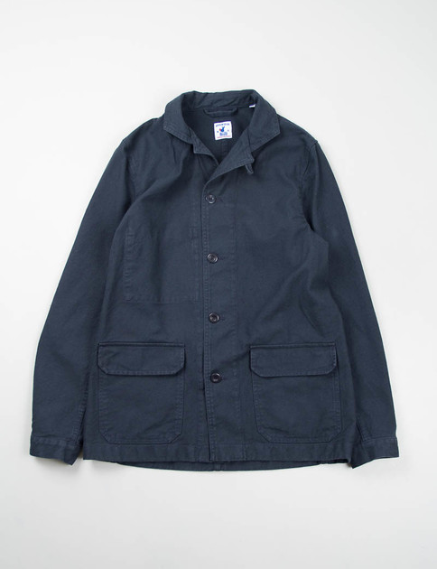 Navy Cotton Serge Mayenne Jacket