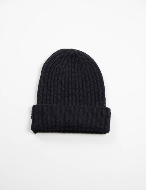 Black Sweater Cashmere Beany Cap