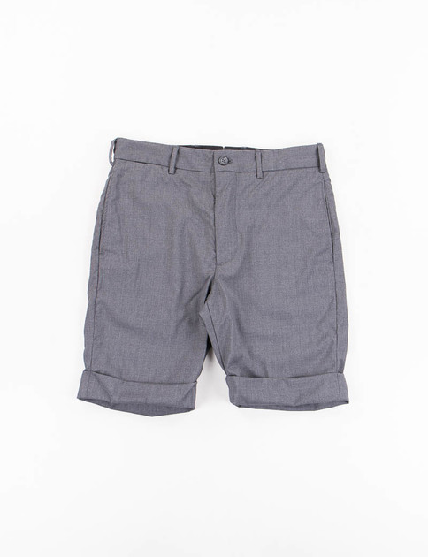 Grey Tropical Wool Cinch Short