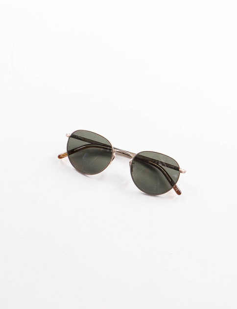 Brushed Gold/Burlwood Hassett Sunglasses