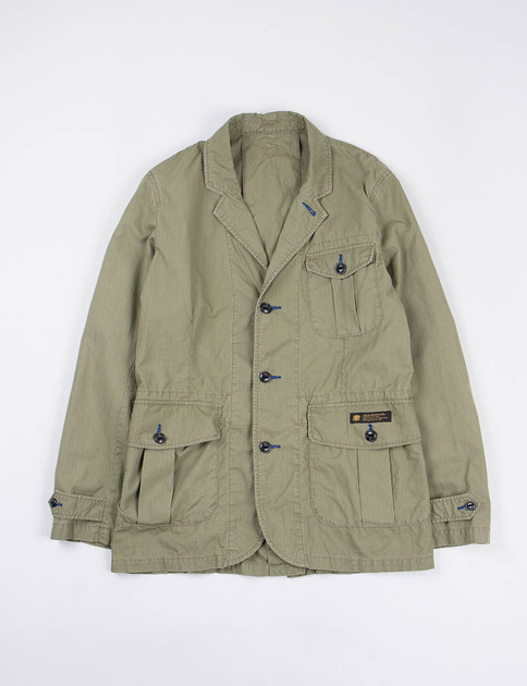 Olive Drab Ripstop Safari Jacket