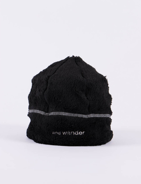 Black High Loft Fleece Beanie