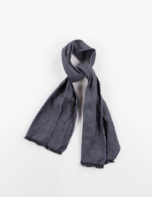 Navy Oxford Linen Neck Scarf