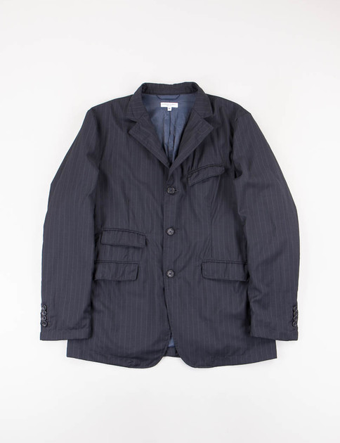 Dark Navy Stripe Tropical Wool Andover Jacket