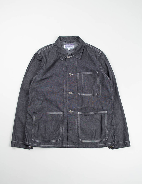 Black 6oz Denim Utility Jacket