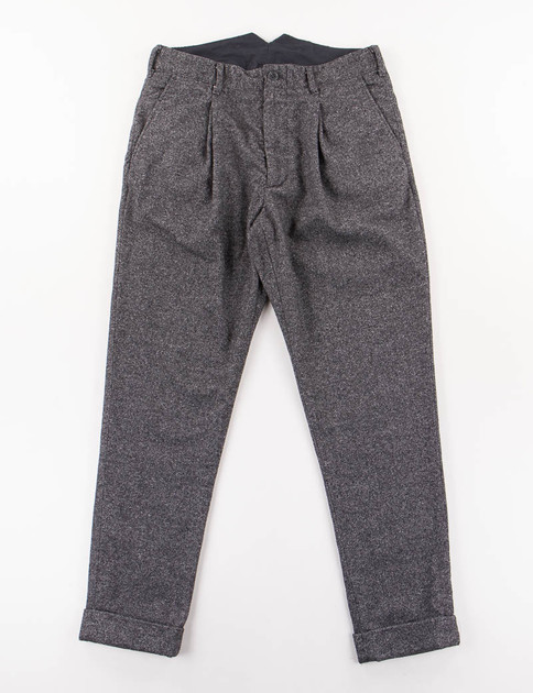 Charcoal Wool Homepsun Willy Post Pant